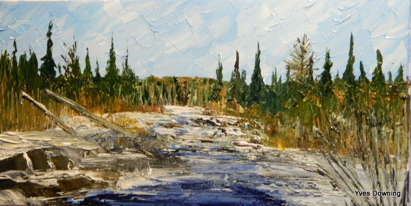 Yves Downing - La décharge du lac Daigle en octobre