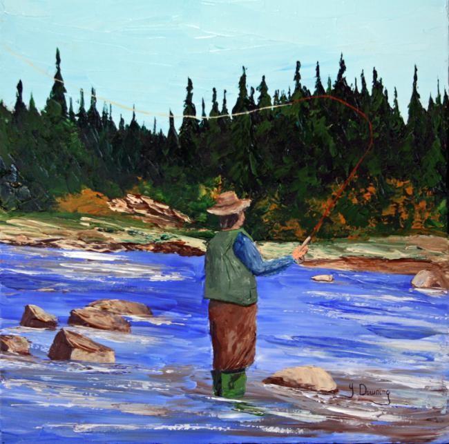 Yves Downing - Le saumonier de la rivière Trinité