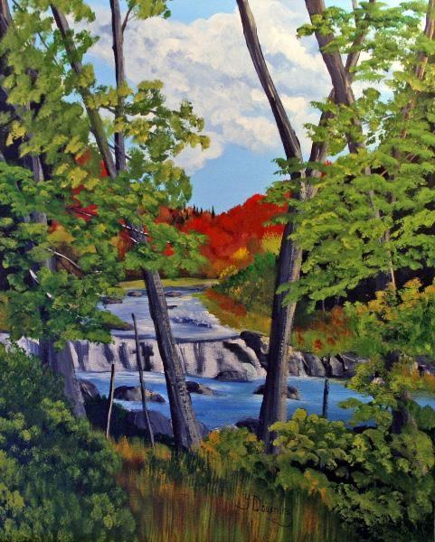 Yves Downing - La rivière à Simon à Morin-Heights