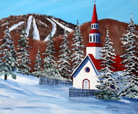 Yves Downing - La chapelle St-Bernard à Mont-Tremblant