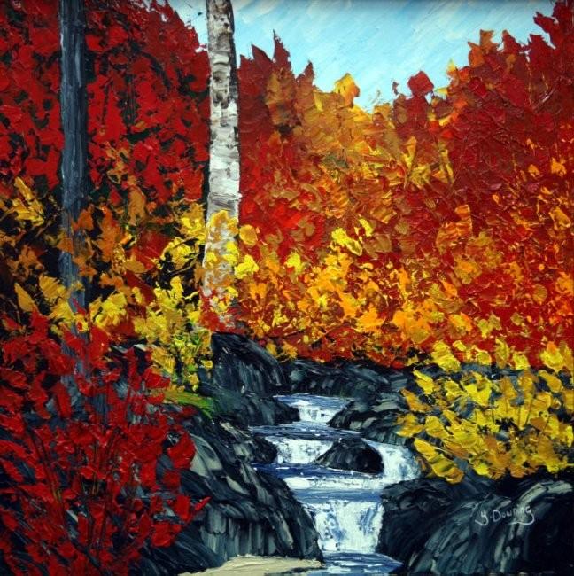 Yves Downing - Le petit ruisseau du chemin St-Antoine à Baie St-Paul