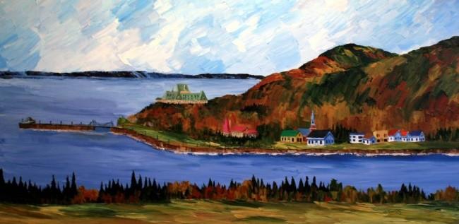 Yves Downing - La baie de Pointe au Pic