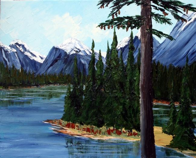 Yves Downing - Lovely afternoon at Maligne Lake
