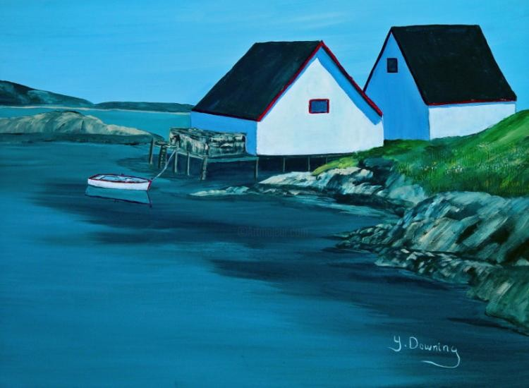 Yves Downing - Les hangars de Peggy's Cove